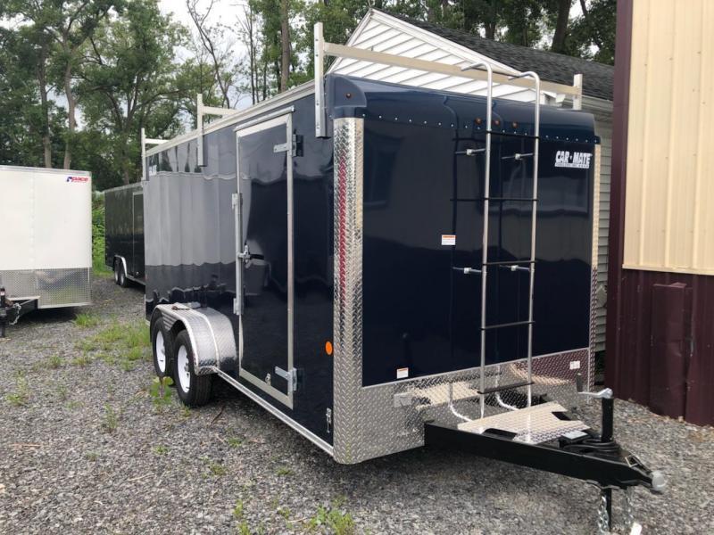 Car Mate 7x16 Custom Cargo Contractor Series w Ramp Door