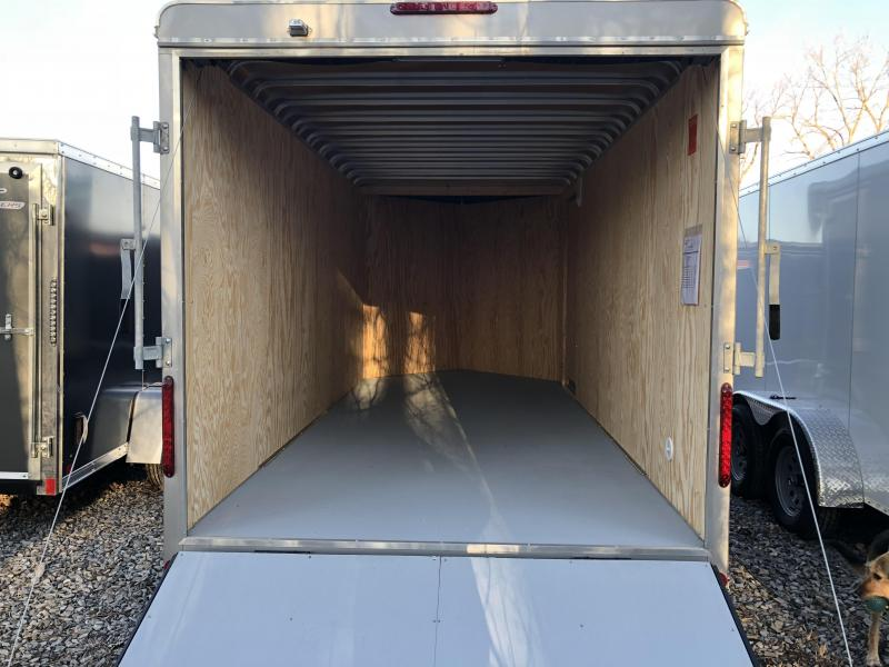 Car Mate 7x14 Advantage V Nose Cargo Trailer w/ Barn Door