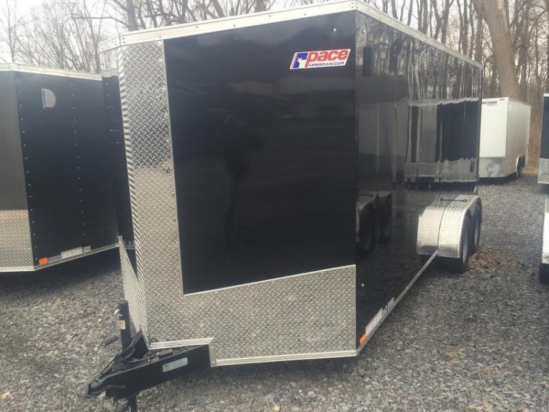Pace American 7x18 Journey SE V-Nose Cargo Trailer w/ Ramp door