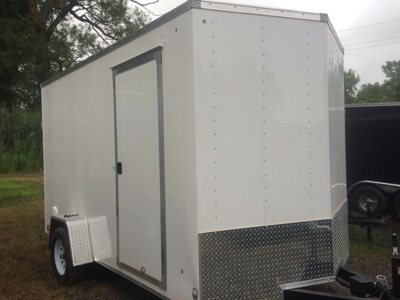 Pace American 6x10 Journey V Nose Cargo Trailer with Barn Door