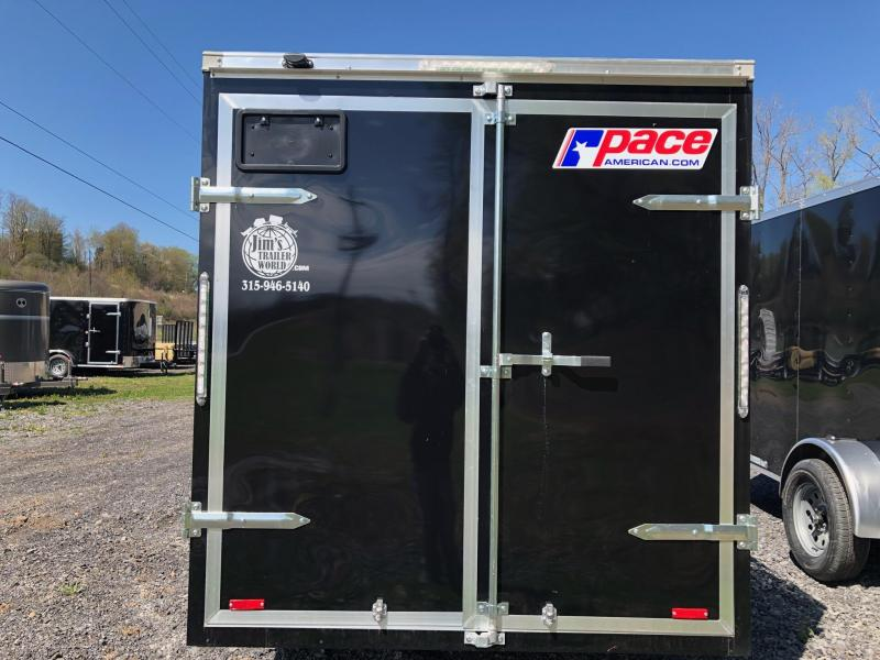 Pace American 6x12 Journey V Nose Cargo Trailer with Barn Door