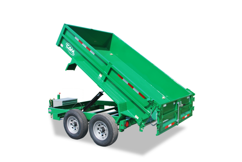 CAM 6x12 Low Profile Dump Trailer 12K w/ Ramps