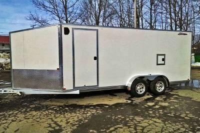 Nitro 7' x 14 Inline Drive In & Drive Out 2 Place Snowmobile Trailer