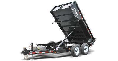 CAM 6x12 Low Profile Dump Trailer 12K