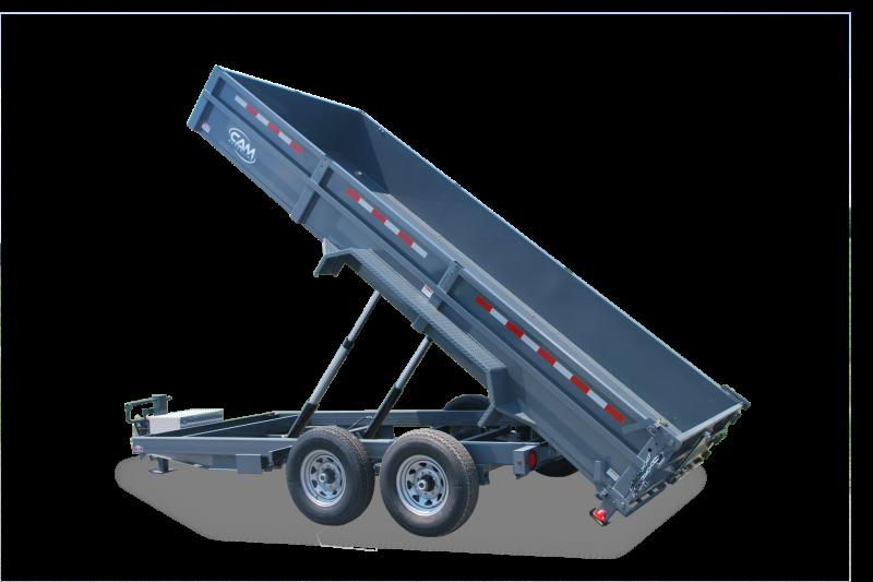 7x16 CAM Heavy Duty Low Profile 16K Dump Trailers