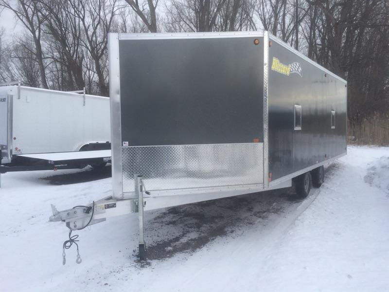 Blizzard 4 Place Drive on Drive off Snowmobile Trailer