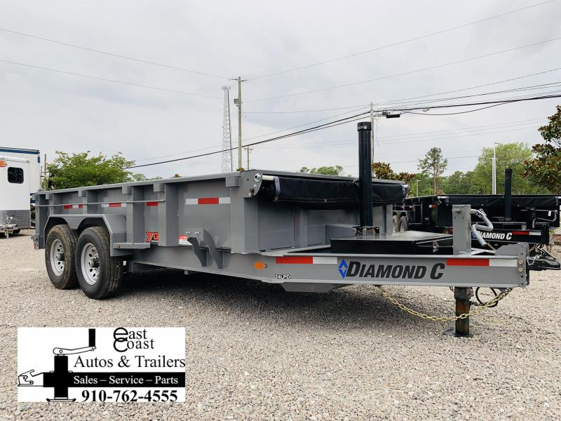 Diamond C Trailers 14' HD Low Profile Telescopic Dump Trailer with 7 GA Steel Upgrade in Ashburn, VA