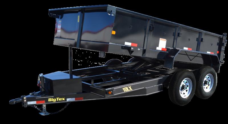 2019 Big Tex 10LX - 12' HD Dump Trailer with Scissor Lift & Slide-In Ramps