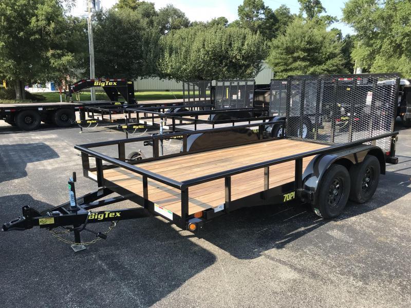 2019 Big Tex Trailers 7k GVWR 14' Tandem Axle Utility Trailer