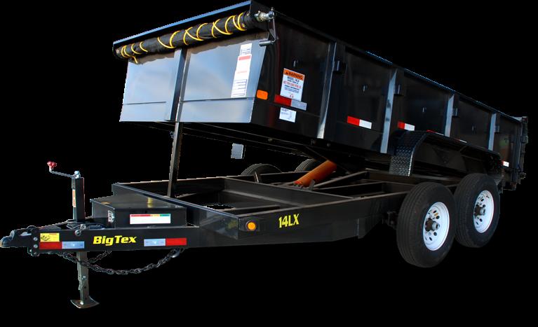 2019 Big Tex 14LX - 14' HD Dump Trailer with 14K GVWR & 7' Slide-In Ramps