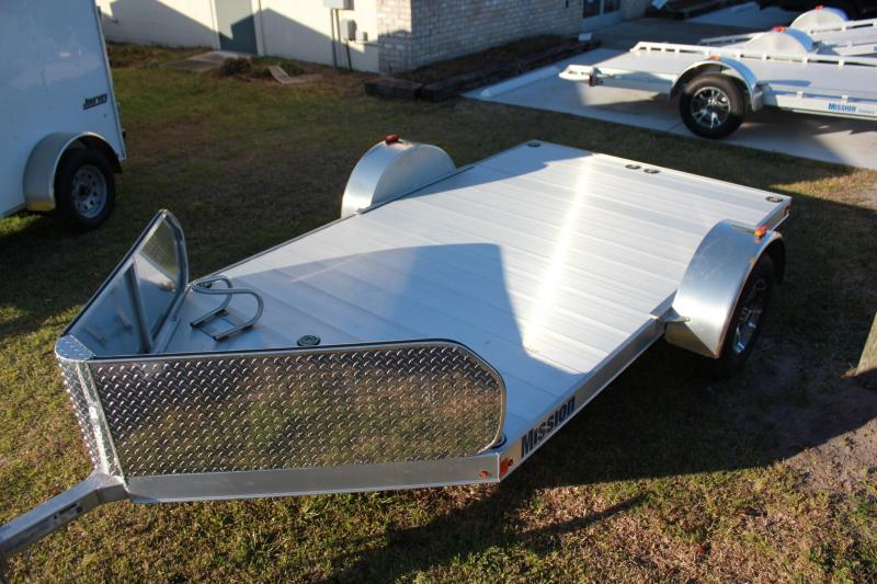 2016 Mission 6.5 X 10' DUAL MOTORCYCLE ALL ALUMINUM TRAILER