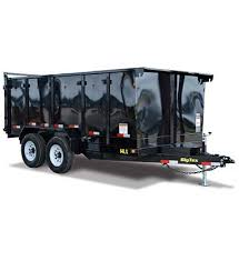 2019 Big Tex Trailers 14LX-14' Dump Trailer WITH 4' High Sides AND HYDRAULIC JACK