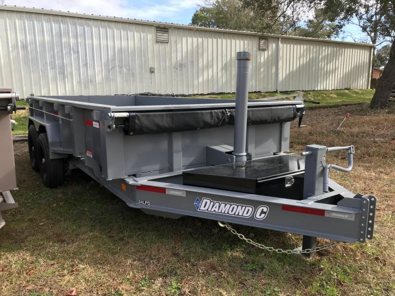 2018 Diamond C Trailers 14' Low Profile Heavy Duty Dump Trailer with Trunnion Hoist