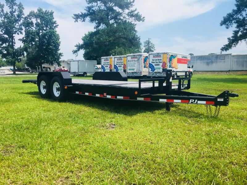 2018 PJ Trailers TJ 22' Tilt Equipment Trailer with 8K Oil Bathed Dexter Axles