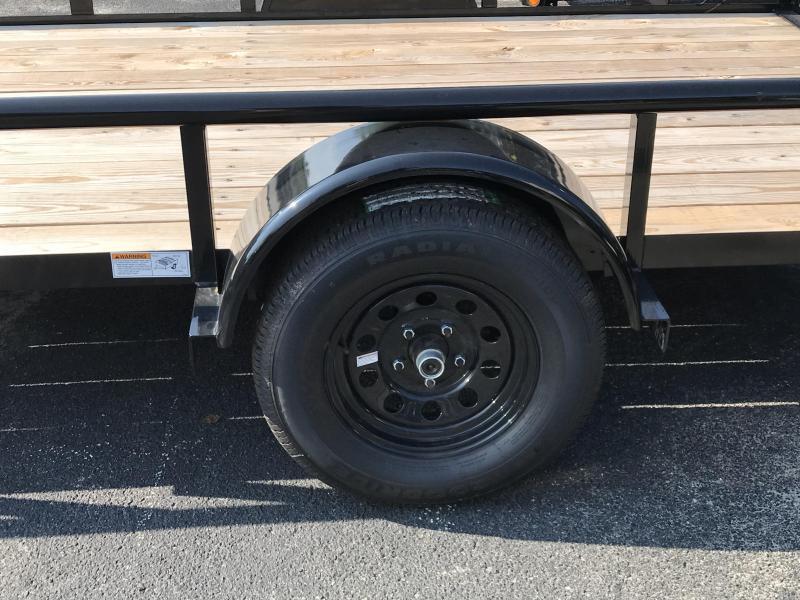 2019 Big Tex 35SA - 12' Utility Trailer with Pipe Top Rails