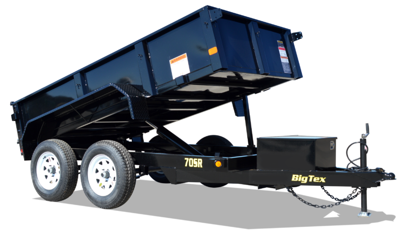 2019 Big Tex Trailers 5' X 10' Tandem Axle Double Door Dump Trailer