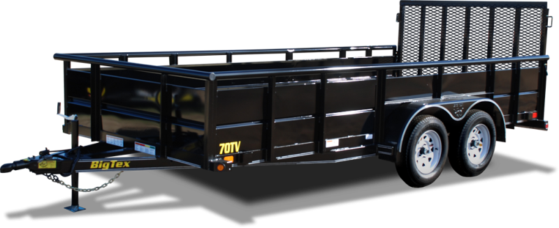 "2018 Big Tex Trailer 70TV-16' WITH 29"" Metal Sides"