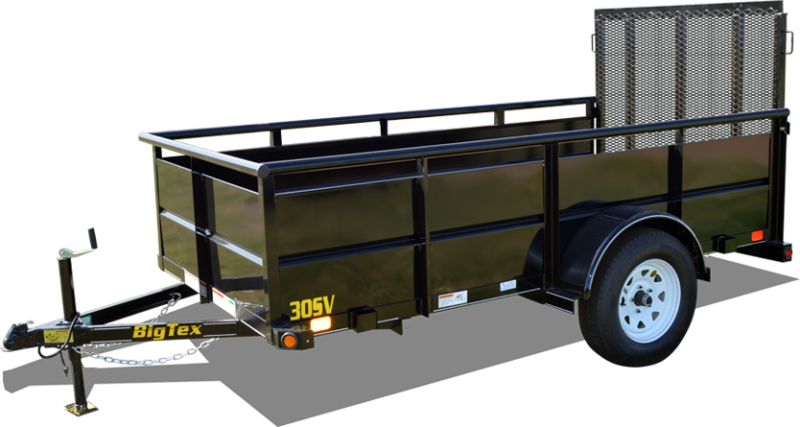 "2018 Big Tex Trailers 12' Utility Trailer with 29"" Metal Sides"