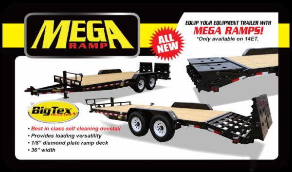 2019 Big Tex 14ET - 20' Equipment Trailer with Mega Ramps