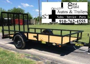 2019 Big Tex 35SA - 12' Utility Trailer with Pipe Top Rails