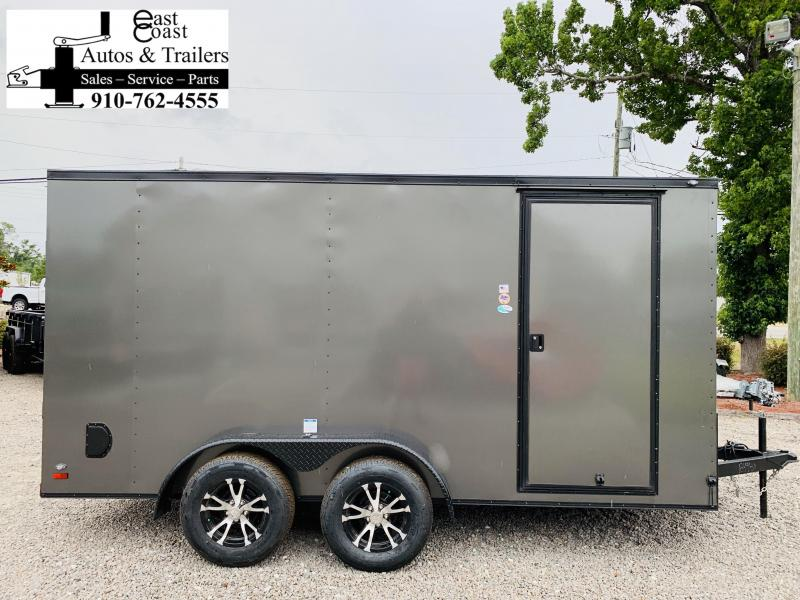2019 Forest River 7x14 Blackout Grey Enclosed Cargo Trailer