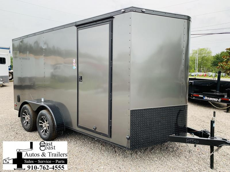 2019 Forest River 7x14 Blackout Grey Enclosed Cargo Trailer in Trenton, NC
