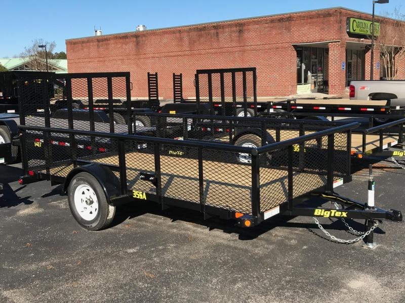 "2018 Big Tex Trailers 12' Utility Trailer with 29"" Expanded Metal Sides"