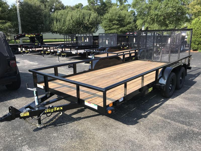 2019 Big Tex Trailers 7k GVWR 18' Tandem Axle Utility Trailer