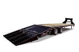 2019 Big Tex 14GN - 20' wood deck + 5 Mega Ramps Gooseneck Trailer