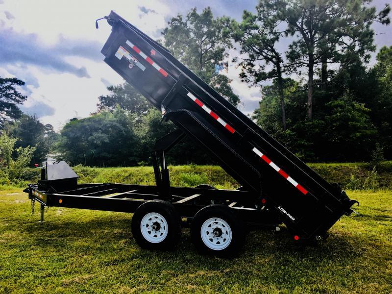 PJ Trailers DL162 (7' X 16') Low Pro Dump Trailer with 14K GVWR
