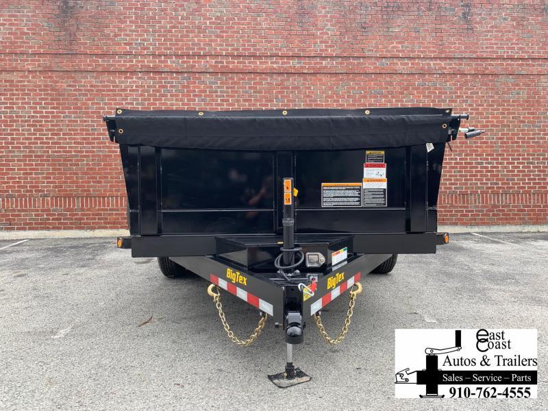 Big Tex 14LX (7' X  16') HD Dump Trailer with Hydraulic Front Jack
