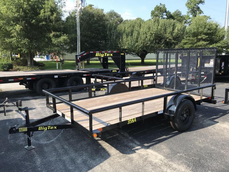 2019 Big Tex 35SA - 14' Utility Trailer with Pipe Top Rails