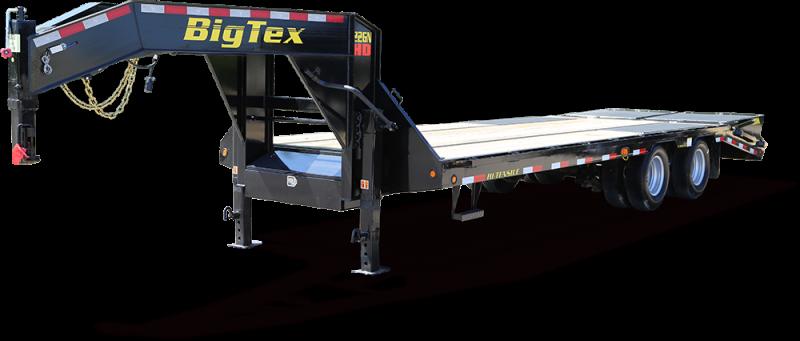 Big Tex 22GN  35' Flatdeck Gooseneck Trailer with 5' Mega Ramps on the Dove Tail