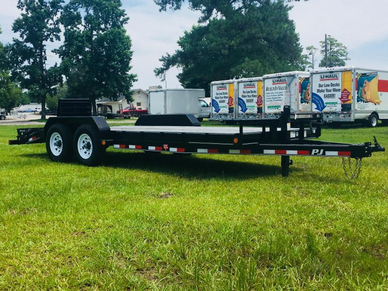 2019 PJ Trailers 24' Equipment Trailer with Monster Ramps