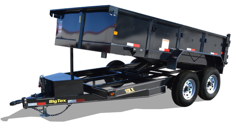 2018 Big Tex 10LX - 12' HD Dump Trailer with Scissor Lift & Slide-In Ramps