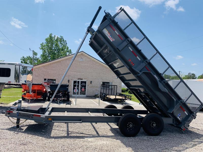 Diamond C Trailers LPT207 HD Low Profile Telescopic Dump Trailer with 7 GA Steel Upgrade and Special Options