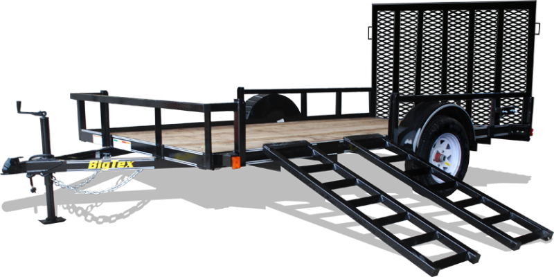 2017 Big Tex 35SA ATV 14' Trailer  with removable sides for side loading