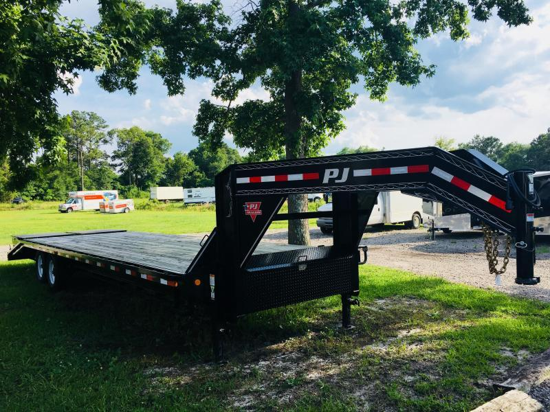 PJ Trailers FD352 (30' Flatdeck) Gooseneck Trailer with Monster Ramps