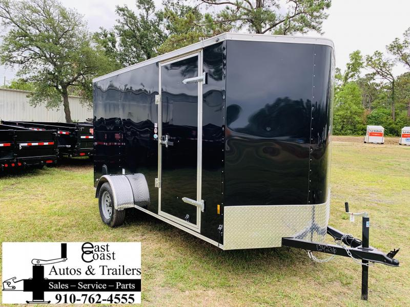 2019 Forest River 6x12 Black Enclosed Cargo Trailer in Brunswick, NC