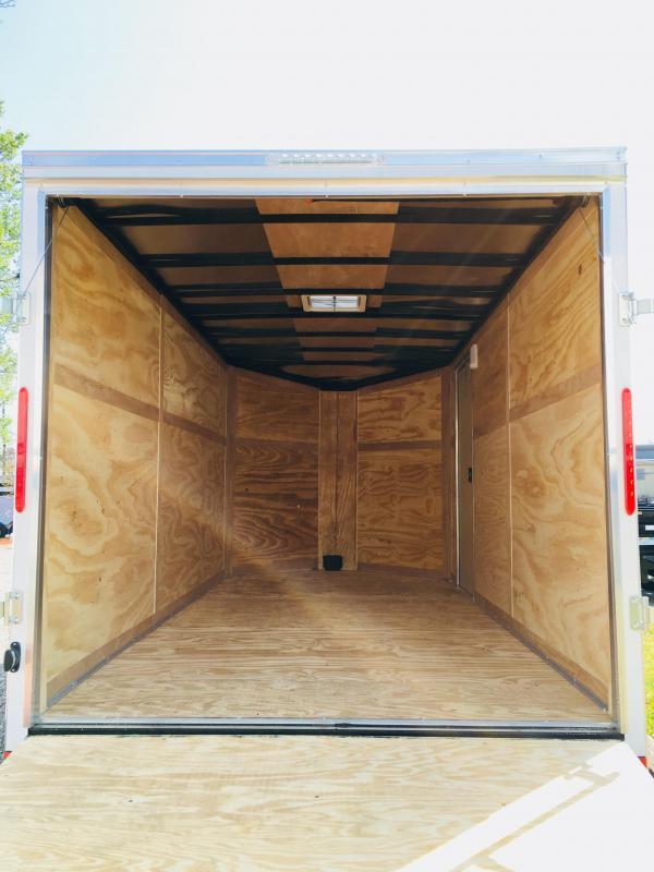 2019 Forest River 6x12 Black Enclosed Cargo Trailer
