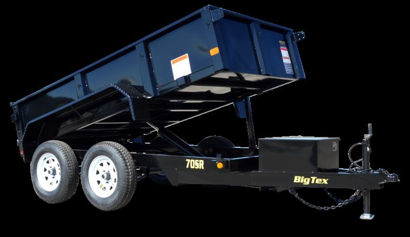 2019 Big Tex Trailers 5' X 10' Tandem Axle Double Door Dump Trailer