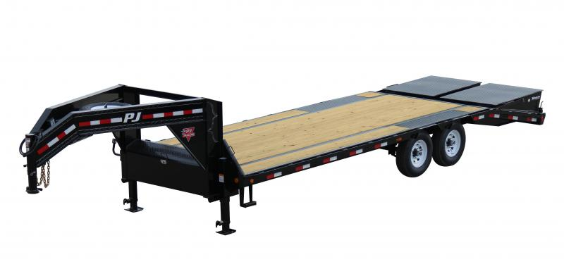 2018 PJ Trailers FS 25' Gooseneck Trailer with Monster Ramps