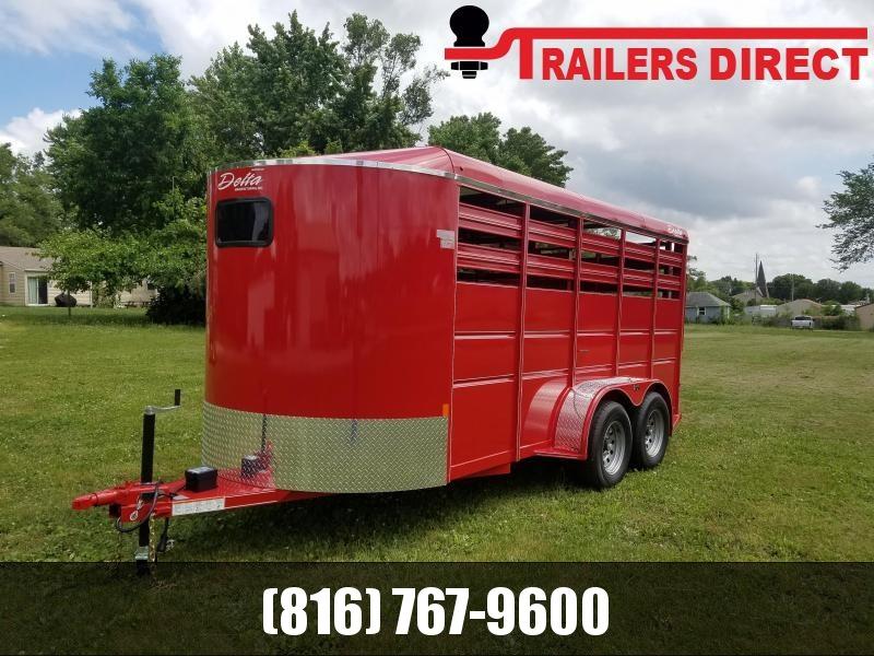2019 Delta Manufacturing Delta 500 ES Stock Trailer Horse Trailer