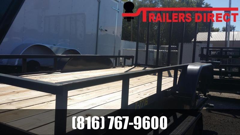2018 Doolittle Trailer Mfg 77 X 16 Utility Trailer
