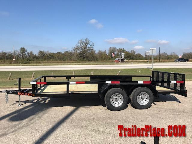 "2018 Ranch King 6'10"" x 18 Utility Trailer"