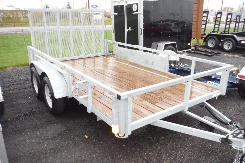 2018 Quality Steel and Aluminum 82 X 12 LANDSCAPE GALVANIZED Utility Trailer in Ashburn, VA