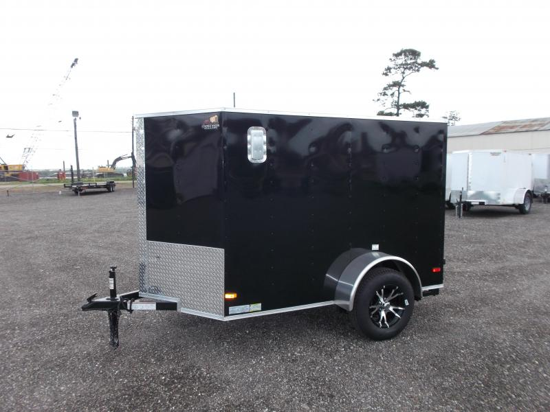 2017 Covered Wagon Trailers 5x8 Cargo Motorcycle Trailer Enclosed Cargo Trailer