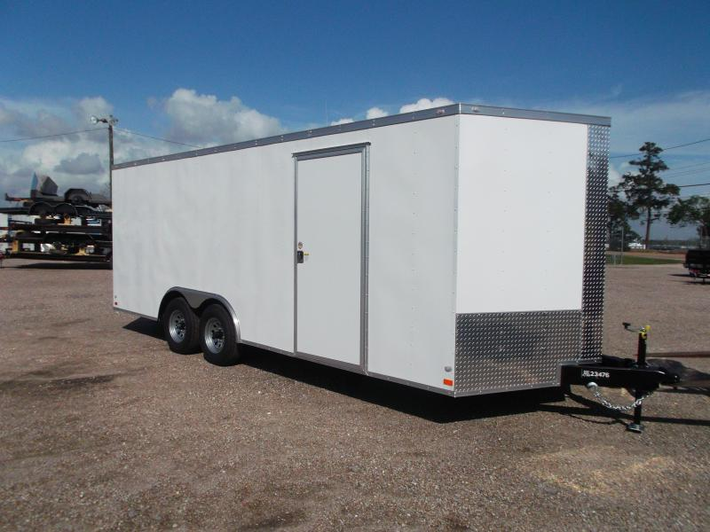 2019 Covered Wagon Trailers 8 5x20 Cargo Enclosed Trailer Car Hauler Motorcycle Trailer 5200 Axles 16 D Rings