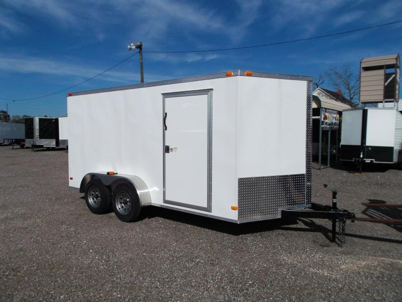 2019 Covered Wagon Trailers 7x14 Cargo Trailer Enclosed Trailer Motorcycle Trailer 8 D Rings