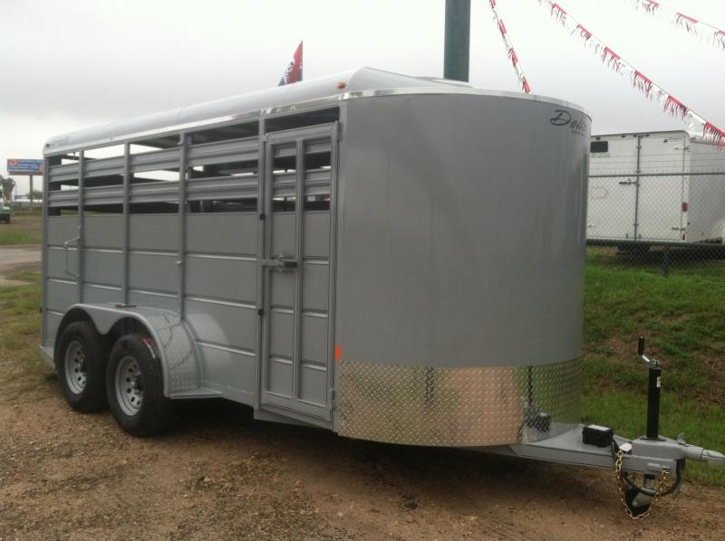 2019 DELTA 6X16 CATTLE STOCK TRAILER